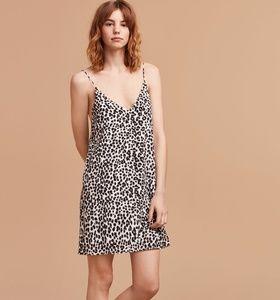 Aritzia leopard print Vivienne Dress
